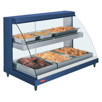 Hatco GRCDH-3PD Navy 46 inch Glo-Ray Full Service Double Shelf Merchandiser with Humidity Controls - 1960W