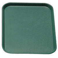 Sherwood Green Cambro 1014FF119 10 inch x 14 inch Customizable Fast Food Tray 24/Case