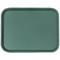 Cambro 1014FF119 10 inch x 14 inch Sherwood Green Customizable Fast Food Tray - 24/Case