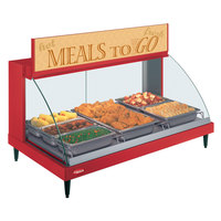 Hatco GRCDH-3P Red 46 inch Glo-Ray Full Service Single Shelf Merchandiser with Humidity Controls - 1255W