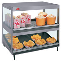 Hatco GRSDS/H-36D Gray Granite Glo-Ray 36 inch Horizontal / Slanted Double Shelf Merchandiser