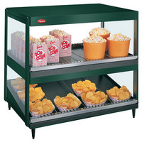 Hatco GRSDS/H-36D Hunter Green Glo-Ray 36 inch Horizontal / Slanted Double Shelf Merchandiser