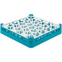 Vollrath 52790 Signature Lemon Drop Full-Size Light Blue 30-Compartment 2 13/16 inch Short Glass Rack