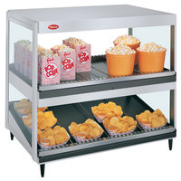 Hatco GRSDS/H-36D White Granite Glo-Ray 36 inch Horizontal / Slanted Double Shelf Merchandiser