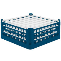 Vollrath 52787 Signature Full-Size Royal Blue 49-Compartment 7 11/16 inch X-Tall Plus Glass Rack