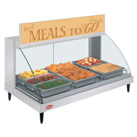 Hatco GRCDH-3P White 46 inch Glo-Ray Full Service Single Shelf Merchandiser with Humidity Controls - 1255W