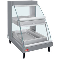 Hatco GRCDH-1PD Gray 20 inch Glo-Ray Full Service Double Shelf Merchandiser with Humidity Controls - 1110W