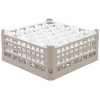 Vollrath 52844 Signature Lemon Drop Full-Size Beige 30-Compartment 7 11/16 inch X-Tall Plus Glass Rack