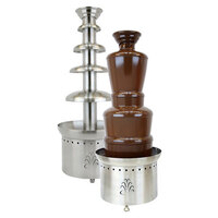 Buffet Enhancements 1BACF40 40 inch Stainless Steel 4 Tier Commercial Chocolate Fountain
