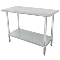 Advance Tabco SLAG-244-X 24 inch x 48 inch 16 Gauge Stainless Steel Work Table with Stainless Steel Undershelf