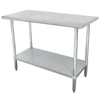 """Advance Tabco SLAG-244-X 24"""" x 48"""" 16 Gauge Stainless Steel Work Table with Stainless Steel Undershelf"""