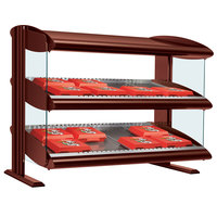 Hatco HXMH-48 Antique Copper LED 48 inch Horizontal Single Shelf Merchandiser - 120V
