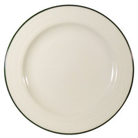 Homer Laughlin Lydia Green 7 1/4 inch Off White China Plate - 36/Case