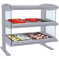 Hatco HXMH-30D Gray Granite LED 30 inch Horizontal Double Shelf Merchandiser