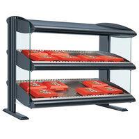 Hatco HXMH-30D Gray Granite Xenon 30 inch Horizontal Double Shelf Merchandiser