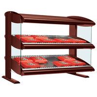 Hatco HXMH-30D Antique Copper Xenon 30 inch Horizontal Double Shelf Merchandiser
