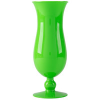 GET HUR-1-G 15 oz. Green Polycarbonate Hurricane Glass - 24/Case