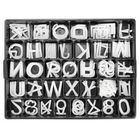 Aarco 2 inch Helvetica Universal Single Tab Letter and Number Double Set - 320 Characters