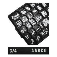 Aarco 3/4 inch Gothic Style Universal Single Tab Letter and Number Set - 165 Characters