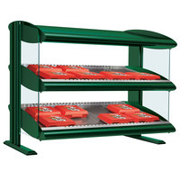 Hatco HXMS-30 Hunter Green LED 30 inch Slanted Single Shelf Merchandiser - 120V