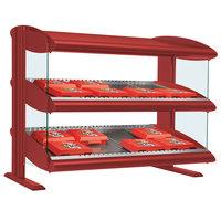 Hatco HXMS-48 Warm Red Xenon 48 inch Slanted Single Shelf Merchandiser - 120V