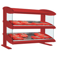 Hatco HXMS-24D Warm Red LED 24 inch Slanted Double Shelf Merchandiser - 120V