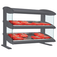 Hatco HXMS-36D Gray Granite LED 36 inch Slanted Double Shelf Merchandiser