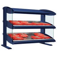 Hatco HXMH-60D Navy Blue Xenon 60 inch Horizontal Double Shelf Merchandiser