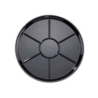 WNA Comet A928BL Checkmate 18 inch Round 7-Compartment Catering Tray - Black 25 / Case