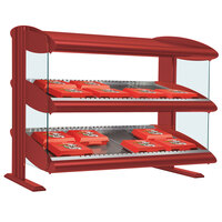 Hatco HXMS-42D Warm Red LED 42 inch Slanted Double Shelf Merchandiser