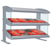 Hatco HXMH-60D White Granite LED 60 inch Horizontal Double Shelf Merchandiser