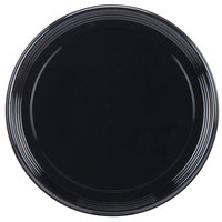 Sabert 9918 Onyx 18 inch Black Round Catering Tray - 36 / Case