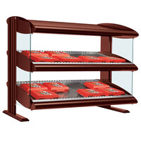 Hatco HXMS-54D Antique Copper LED 54 inch Slanted Double Shelf Merchandiser