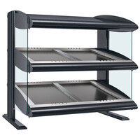 Hatco HZMS-36D Gray Granite 36 inch Slanted Double Shelf Heated Zone Merchandiser