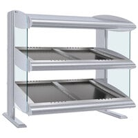 Hatco HZMS-30D White Granite 30 inch Slanted Double Shelf Heated Zone Merchandiser