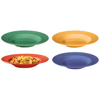 GET B-1611-MIX Diamond Mardi Gras 16 oz. Melamine Bowl, Assorted Colors - 12 / Case