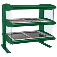 Hatco HZMH-60D Hunter Green 60 inch Horizontal Double Shelf Heated Zone Merchandiser