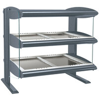 Hatco HZMH-36D Gray Granite 36 inch Horizontal Double Shelf Heated Zone Merchandiser