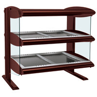 Hatco HZMH-60D Antique Copper 60 inch Horizontal Double Shelf Heated Zone Merchandiser