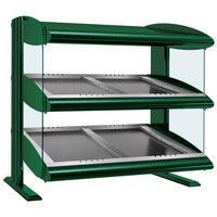 Hatco HZMS-36D Hunter Green 36 inch Slanted Double Shelf Heated Zone Merchandiser