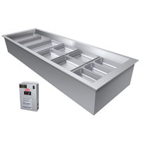 Hatco CWBX-4 Four Pan Refrigerated Drop In Cold Food Well without Condenser - 120V
