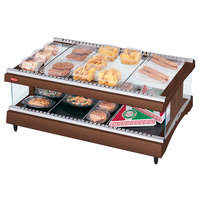 Hatco GR3SDH-39 Antique Copper Glo-Ray 39 inch Horizontal Single Shelf Heated Glass Merchandising Warmer - 120V