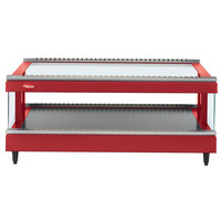 Hatco GR3SDS-33 Warm Red Glo-Ray 33 inch Slanted Single Shelf Heated Glass Merchandising Warmer - 120V