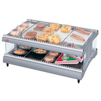 Hatco GR3SDH-33 Gray Granite Glo-Ray 33 inch Horizontal Single Shelf Heated Glass Merchandising Warmer - 120V