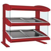 Hatco HZMS-48D Warm Red 48 inch Slanted Double Shelf Heated Zone Merchandiser