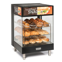 Nemco 6425 Hot Food Merchandiser with 3 Angled 19 inch Shelves - 120V