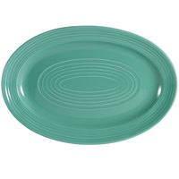 CAC TG-12-G Tango 10 5/8 inch x 7 3/4 inch Green Oval Platter - 24/Case