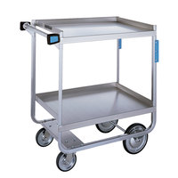 Lakeside 710 Heavy Duty Stainless Steel 2 Shelf Utility Cart - 16 1/4 inch x 30 inch x 34 1/4 inch