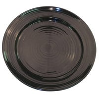 CAC TG-8-BLK Tango 9 inch Black Round Plate - 24 / Case