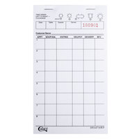 Choice 1 Part White Waiter / Waitress Order Pad - 10/Pack